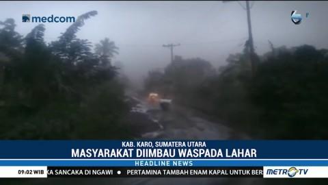 Sejumlah Desa di Sekitar Gunung Sinabung Terpapar Abu Vulkanis