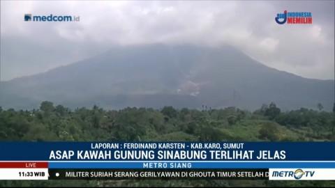Gunung Sinabung Diguncang Gempa Tremor Sebanyak 19 Kali