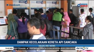 Ratusan Calon Penumpang di Stasiun Mojokerto Kembalikan Tiket