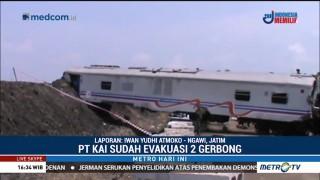 Jalur KA Rute Ngawi-Jakarta Masih Belum Bisa Dilintasi