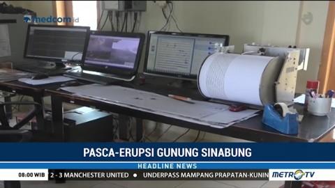 Intensitas Gempa Gunung Sinabung Menurun