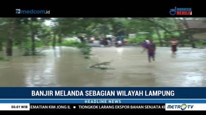 Banjir Rendam Sejumlah Akses Jalan Utama di Tulang Bawang