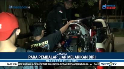 Polisi Bubarkan Balapan Liar di Jakarta Barat