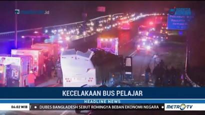 Bus Pelajar di New York Kecelakaan