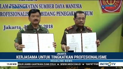 Kejagung dan TNI Kerja Sama dalam Penegakan Hukum