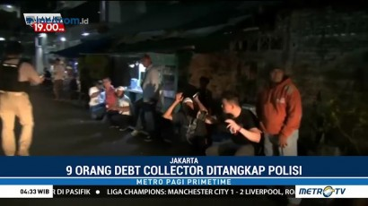 9 Debt Collector Diamankan Polisi