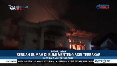 Rumah Mewah di Bumi Menteng Asri Hangus Terbakar