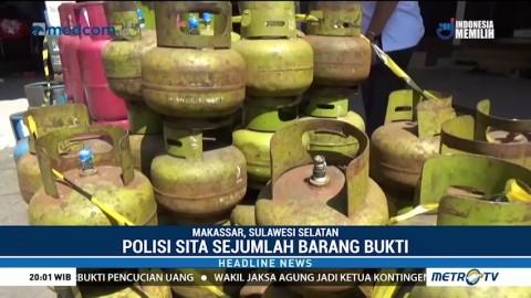 Polda Sulsel Bongkar Praktik Pengoplosan Gas LPG di Makassar