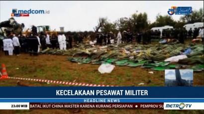 257 Orang Tewas dalam Kecelakaan Pesawat Militer di Aljazair
