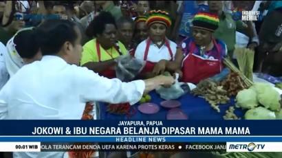 Jokowi Blusukan di Pasar Mama-Mama Papua