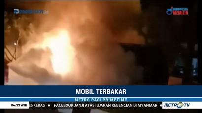 Satu Mobil dan Dua Motor Ludes Terbakar Akibat Tabrakan