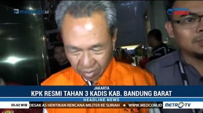 Tiga Kadis Kabupaten Bandung Barat Resmi Ditahan