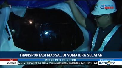 Kemenhub Tinjau Rangkaian Kereta LRT di Palembang