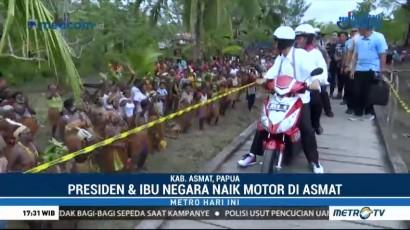Momen Kemesraan Jokowi dan Iriana di Papua