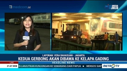 Tiba di Priok, Dua Gerbong LRT akan Dibawa ke Depo Kelapa Gading