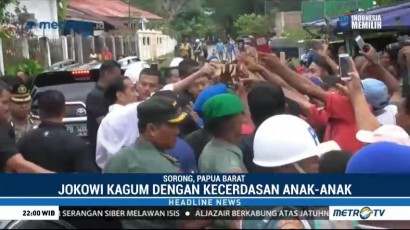 Jokowi Kagum dengan Kecerdasan Anak-anak Papua