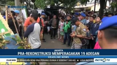 Polisi Prarekonstruksi Kasus Pembunuhan Pensiunan TNI