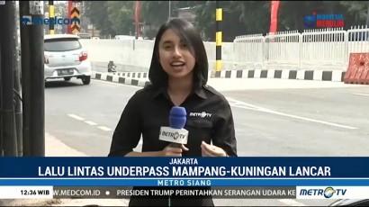 Pantauan Lalu Lintas <i>Underpass</i> Mampang-Kuningan di Akhir Pekan
