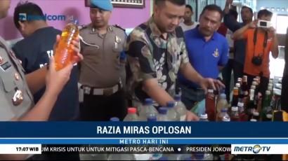 Polres Ciamis Sita Ribuan Botol Miras