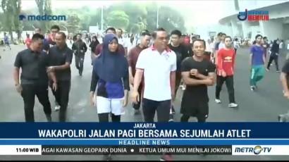 Wakapolri Jalan Santai Bersama Atlet Asian Games