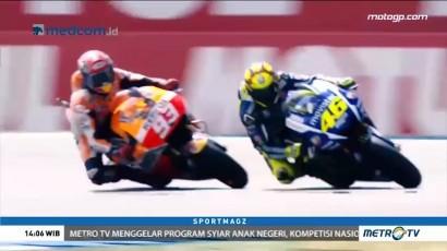 Persaingan Panas Rossi vs Marquez