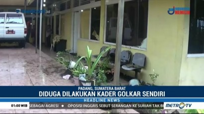 Kantor DPD Golkar Sumbar Diserang Kadernya