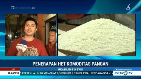 HET Beras di Pasar Tomang Barat Belum Diterapkan