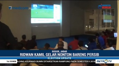 Ridwan Kamil Gelar Nobar Laga Persib vs Arema FC