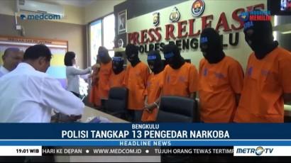 Polisi Tangkap 13 Pengedar Narkoba di bengkulu