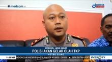 Puslabfor Olah TKP Bangunan Roboh di Cirebon