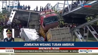 Jembatan Widang Tuban Ambruk, Satu Korban Terjepit Truk