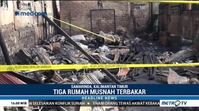 Kebakaran Tiga Rumah di Samarinda Tewaskan Enam Orang