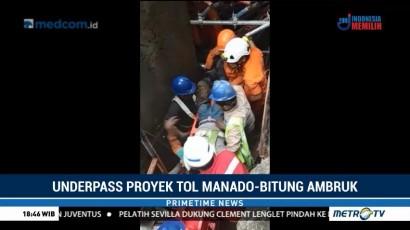 Proyek Tol Manado-Bitung Ambruk, 3 Pekerja Tertimbun