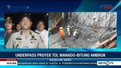 Posisi Korban Ambruknya Tol Manado-Bitung Ditemukan