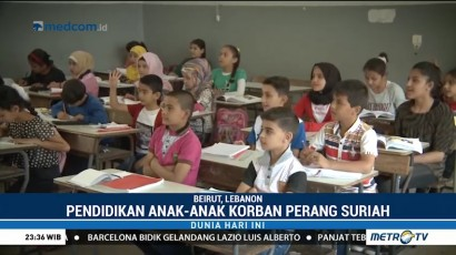 Anak Pengungsi Suriah di Lebanon Kembali Bersekolah