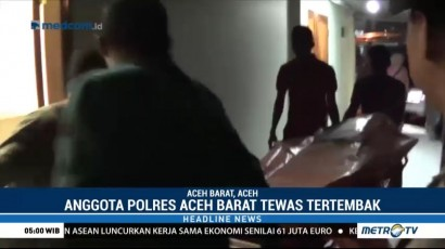 Polisi Ditemukan Tewas Tertembak di Aceh