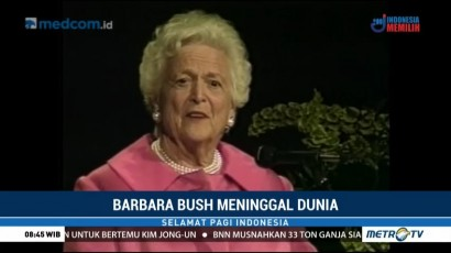 Mantan Ibu Negara AS Barbara Bush Meninggal Dunia