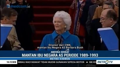 Barbara Bush Tutup Usia di Umur 92 Tahun