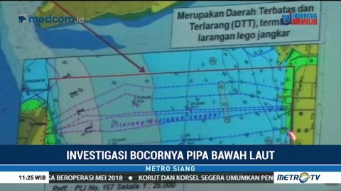 Pushidrosal Investigasi Patahnya Pipa Pertamina di Teluk Balikpapan