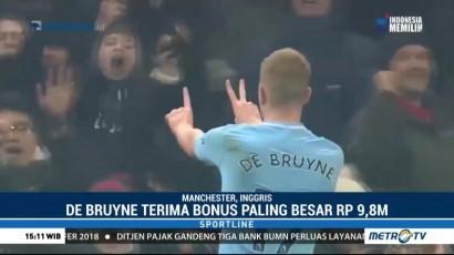 De Bruyne Terima Bonus Terbesar dari City