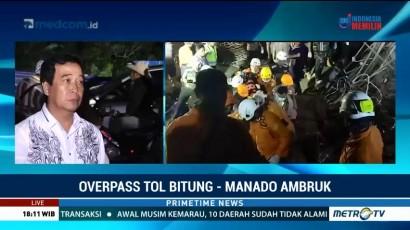 Dugaan Sementara Penyebab Ambruknya Overpass Tol Manado-Bitung