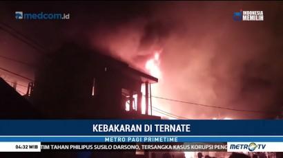 Puluhan Rumah di Ternate Terbakar Diduga Akibat Korsleting Listrik