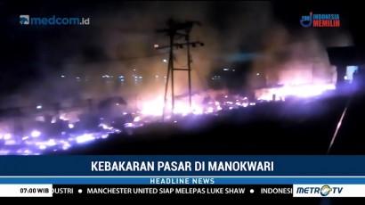 Pasar Sanggeng Manokwari Kembali Terbakar