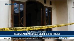 Bangunan Rusak Akibat Gempa Banjarnegara Diberi Garis Polisi