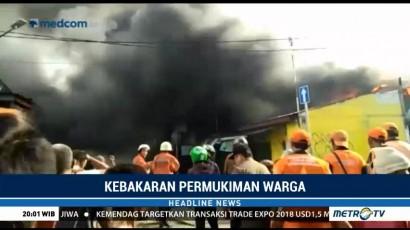Kebakaran Melanda Pemukiman Padat Penduduk di Kemayoran