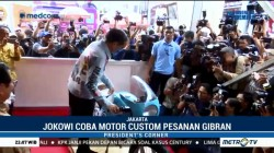 Jokowi Coba Motor Modifikasi Pesanan Gibran