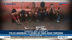 Hendak Tawuran, 15 Siswa SD di Purwakarta Diamankan Polisi