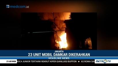 Kebakaran di Tambora, 23 Mobil Pemadam Kebakaran Dikerahkan