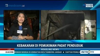 Kebakaran di Tambora Berhasil Dipadamkan