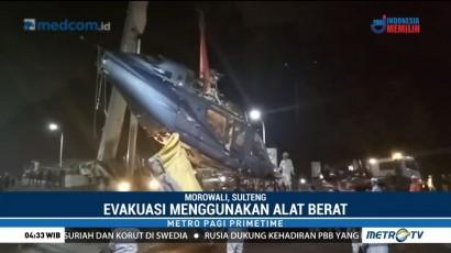 Bangkai Helikopter Jatuh Berhasil Dievakuasi